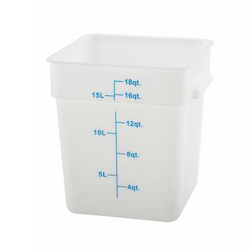 Winco PESC-18 White 18 qt Food Storage Container