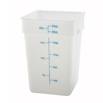 Winco PESC-22 White 22 qt Food Storage Container