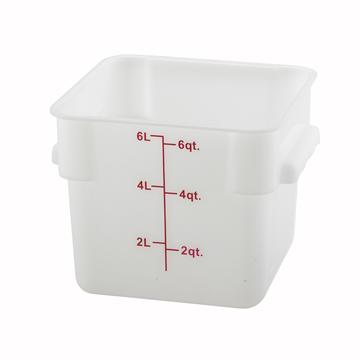 Winco PESC-6 White 6 qt Food Storage Container