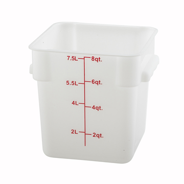 Winco PESC-8 White 8 qt Food Storage Container